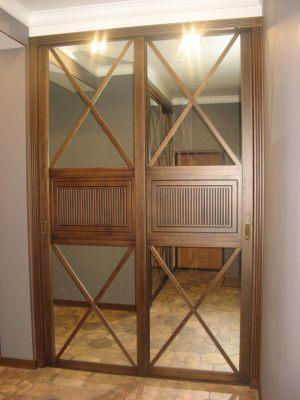 Шкаф купе шпонированный с делитель наклейками Черемхово