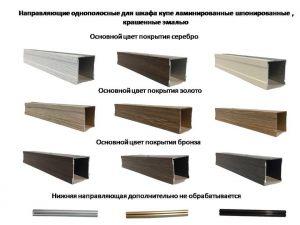 Направляющие однопосные для шкафа купе ламинированные, шпонированные, крашенные эмалью Черемхово