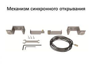 Механизм синхронного открывания для межкомнатной перегородки  Черемхово