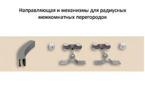 Направляющая и механизмы верхний подвес для радиусных межкомнатных перегородок Черемхово