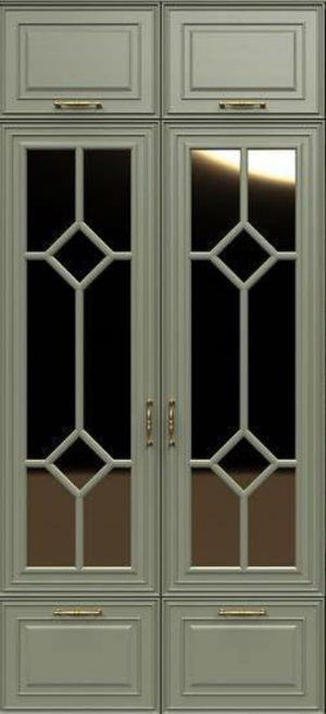 Фасад с фигурной филенкой эмаль Черемхово