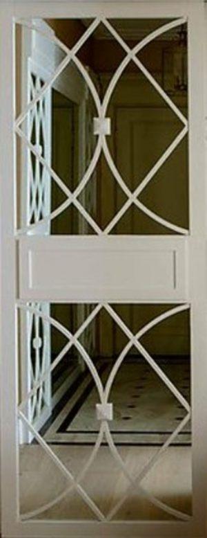 Вставка с фигурной филенкой на зеркале эмаль Черемхово