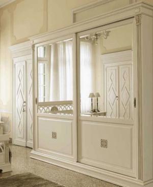 Шкаф купе с филенкой и декоративной накладкой эмаль Черемхово
